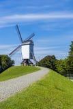 Mulino a vento di Bruges Belgio Fotografie Stock