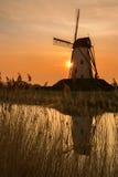 Mulino a vento di Damme nel Belgio Fotografie Stock