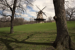 Mulino a vento di Ginevra Fotografie Stock