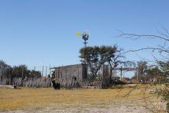 Mulino a vento di Kalahari Immagine Stock