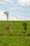 Mulino a vento di Kansas Fotografia Stock