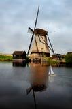 Mulino a vento di Kinderdijk fotografia stock