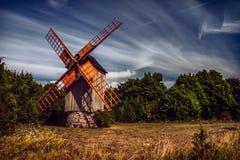 Mulino a vento di Koguva in Estonia Fotografia Stock