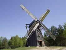 Mulino a vento di legno Fotografie Stock Libere da Diritti