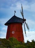 Mulino a vento di legno storico Immagini Stock