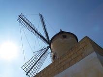Mulino a vento di Mallorcan Fotografie Stock