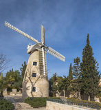 Mulino a vento di Montefiore, Gerusalemme Immagine Stock