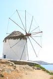 Mulino a vento di Mykonos Fotografia Stock Libera da Diritti