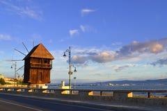 Mulino a vento di Nessebar Fotografie Stock Libere da Diritti
