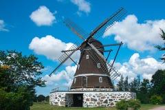 Mulino a vento in Fleninge, Svezia fotografia stock libera da diritti