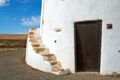 Mulino a vento a Fuerteventura Immagini Stock Libere da Diritti