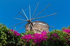 Mulino a vento in Grecia Fotografia Stock Libera da Diritti