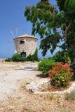 Mulino a vento greco Immagine Stock
