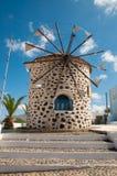 Mulino a vento greco Fotografia Stock