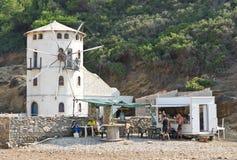 Mulino a vento greco Fotografie Stock