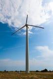 Mulino a vento il giorno soleggiato Fotografia Stock Libera da Diritti