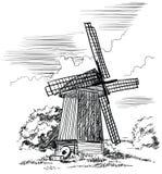 Mulino a vento Illustrazione di vettore Fotografia Stock