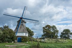 Mulino a vento Immanuel, Germania del Nord fotografia stock