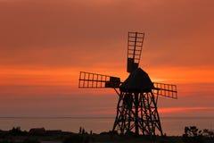 Mulino a vento a Jordhamn, Oeland, Svezia Immagine Stock Libera da Diritti