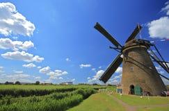 Mulino a vento in Kinderdijk, Olanda Immagine Stock Libera da Diritti