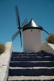 Mulino a vento in La Mancha Fotografie Stock Libere da Diritti