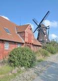 Mulino a vento, Lemkenhafen, Fehmarn, Mar Baltico, Germania Immagine Stock Libera da Diritti