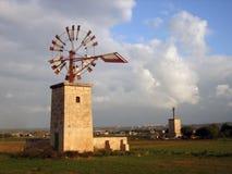 Mulino a vento in Majorca Fotografia Stock
