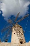Mulino a vento in Mallorca Fotografia Stock
