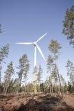 Mulino a vento moderno Fotografie Stock Libere da Diritti