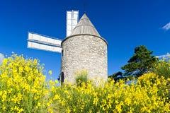 mulino a vento, Montfuron, Provenza, Francia fotografia stock libera da diritti