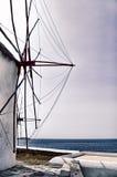 Mulino a vento in Mykonos, Grecia Fotografia Stock Libera da Diritti