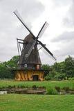 Mulino a vento nel museo all'aperto di Copenhaghen Fotografia Stock Libera da Diritti