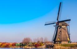 Mulino a vento nell'orario invernale Fotografie Stock