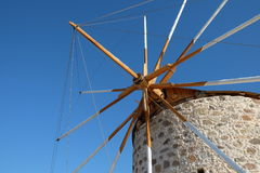 Mulino a vento nella città di Kefalos Fotografia Stock Libera da Diritti