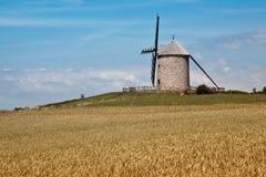 Mulino a vento in Normandia Immagini Stock