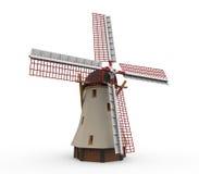 Mulino a vento olandese isolato Fotografia Stock Libera da Diritti