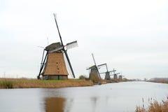 Mulino a vento olandese tradizionale Immagine Stock Libera da Diritti