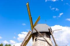 Mulino a vento, Pomerania, Polonia Immagini Stock