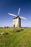 Mulino a vento in Pontorson Immagine Stock