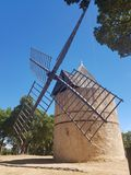 Mulino a vento in Ramatuelle Immagini Stock Libere da Diritti