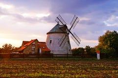 Mulino a vento in repubblica Ceca Fotografie Stock Libere da Diritti