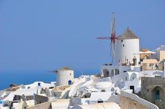 Mulino a vento - santorini (Cicladi) Immagini Stock Libere da Diritti