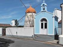 Mulino a vento a sao Miguel Island Fotografia Stock