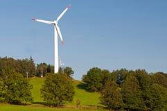 Mulino a vento solare Immagine Stock Libera da Diritti