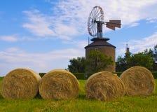 Mulino a vento storico Ruprechtov, Repubblica ceca Fotografia Stock