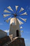 Mulino a vento su Crete Fotografia Stock Libera da Diritti