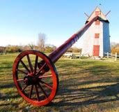 Mulino a vento su Nantucket fotografia stock