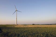 Mulino a vento sul tramonto Immagini Stock