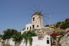 Mulino a vento sull'isola di Naxos Fotografia Stock Libera da Diritti