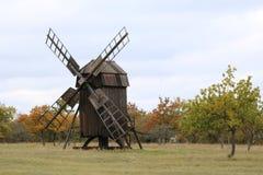 Mulino a vento Svezia di Borgholm su Oland Fotografia Stock